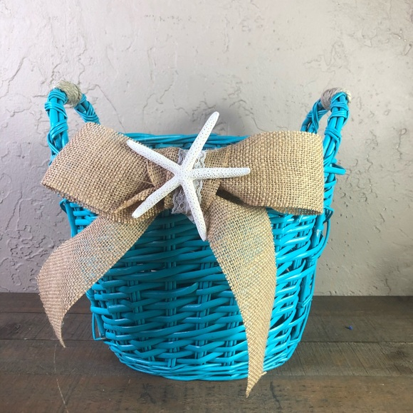 None Other - Beach wedding basket beach house decor